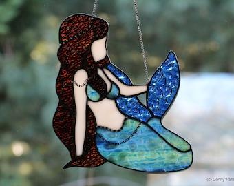 Mermaid Stained Glass Suncatcher