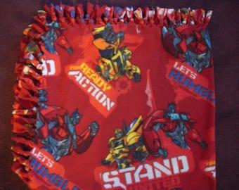 Transformers Fleece No-Sew Blanket