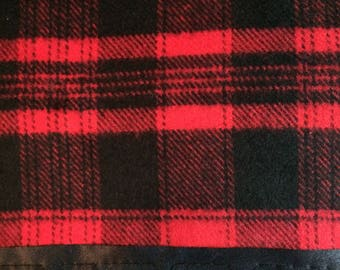 Flannel Red/Black Pillowcase