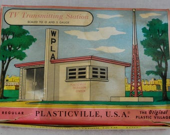 1957 Plasticville TV TRANSMITTING STATION 1618 O Scale Train Building