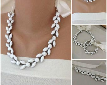 Bridesmaids Gift Necklace and Bracelet SET , Special Occasions MİRNY
