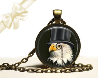 Dandy Eagle steampunk brass Pendant Necklace Free Shipping Gifts for her