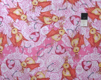 Tina Givens PWTG173 Feather Flock Dancing King Fuchsia Cotton Fabric By Yd