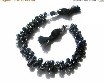 Sale 45% off sparkling AAA Natural Mystic Black Spinel faceted teardrop briolettes (20 pcs 80 ctw)
