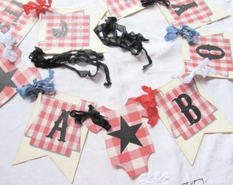 It's a Boy Baby Barbeque BBQ Shower Banner - Ready to Ship - Baby Q Shower Bunting