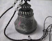Large Tibetan Prayer Bell Necklace Pendant Wind Chime