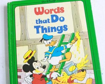 Walt Disney's Words That Do Things childrens vintage book 1978