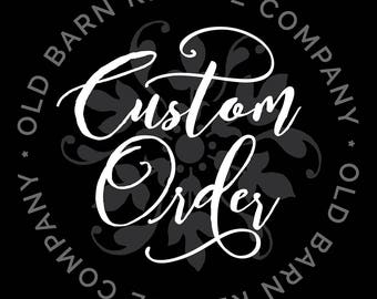 Custom order for Bryan M - Wall Decal