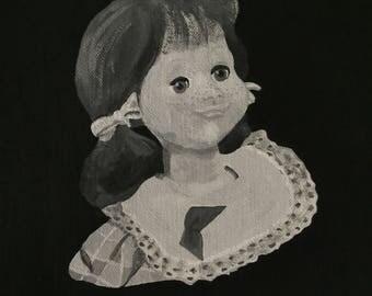 Living Doll ~ Talky Tina Twilight Zone Painting