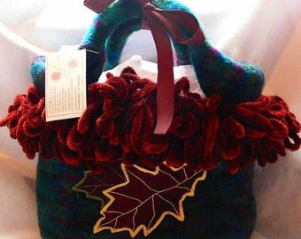 Fall Felted Tote from Designs by Fredericka