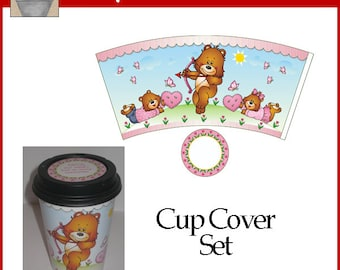 Cup Cover Set Printable Love Bears Valentine