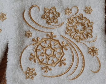 Winter Snowflakes Towel