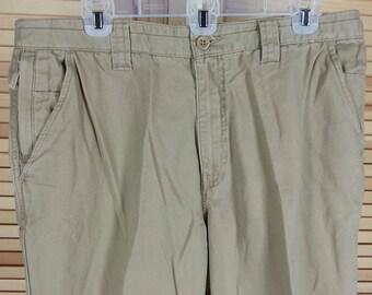 Vintage 90s beige khaki pants Weatherproof Garment Company heavy cotton size 36 x 29