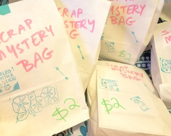 Scrap Mystery Bag - For Scrapbooking, Sketchbooking, Collaging, and More!