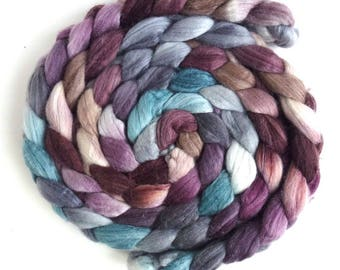 Merino/ Superwash Merino/ Silk Roving (Top) - Handpainted Spinning or Felting Fiber, Nanna