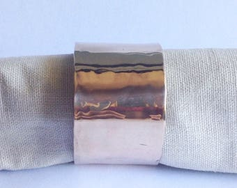 Hammered Bronze Napkin Rings - Table Decor - Wedding Table Decor - 19th Anniversary Gift - Mother's Day Gift