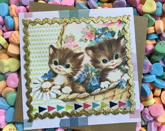 Handmade Kitten Card