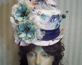 Victorian Top Hat, Steampunk top Hat, Kentucky Derby Top Hat, Parisian Top Hat, Easter Top Hat, Wedding Top Hat