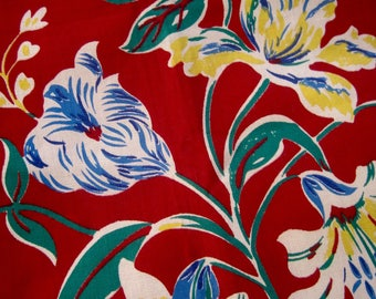French Vintage Fabric, Vintage French Fabric, French Textile, French Florals, Old Fabric, French Cotton Fabric, Fabric & Notions, Fabric
