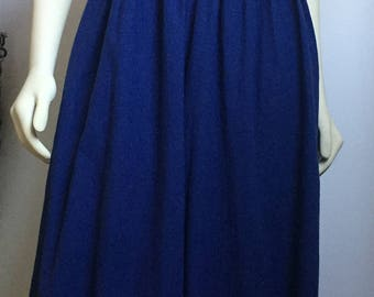 Vintage Blue Wide Leg Pants with Removable Straps