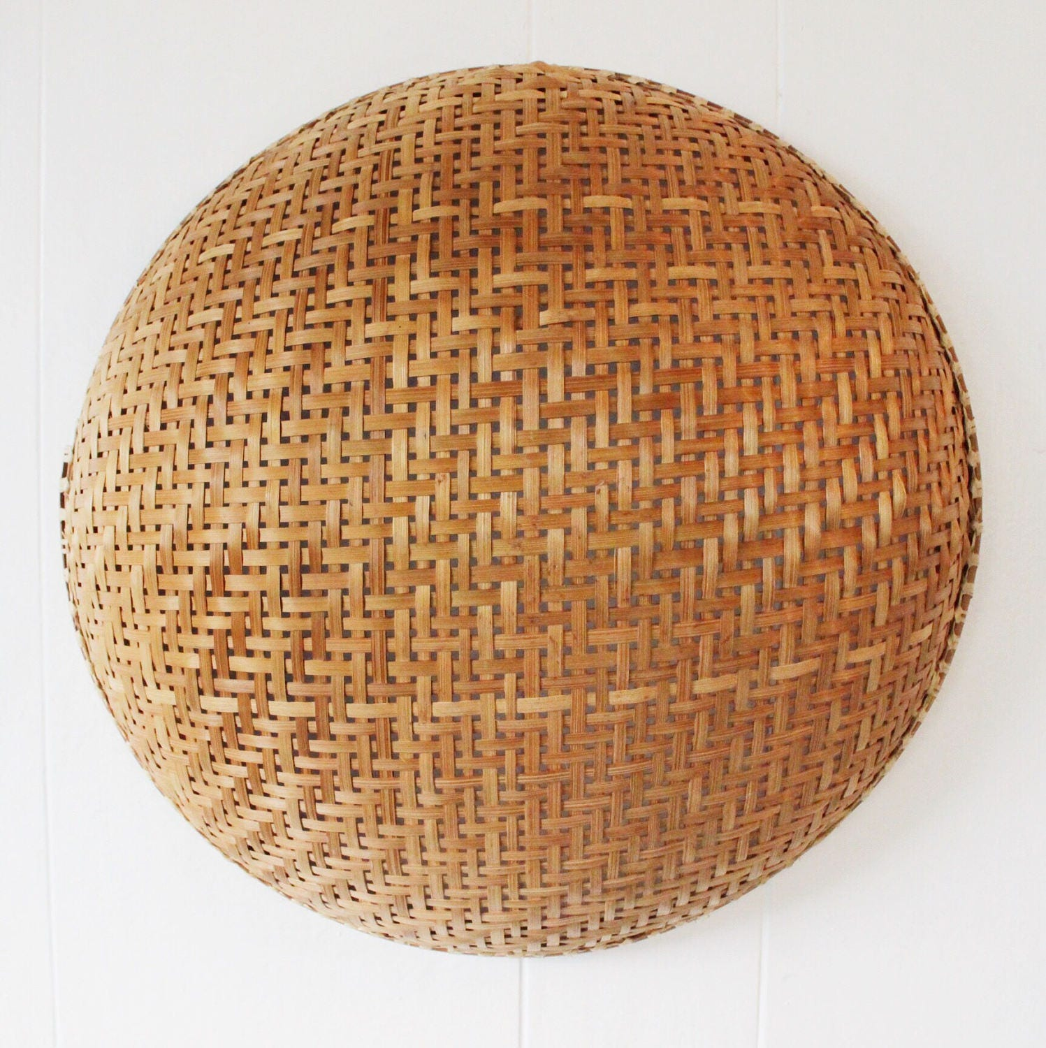 Rattan Wall Decor Round : Woven bamboo basket round rattan bowl boho wall hanging
