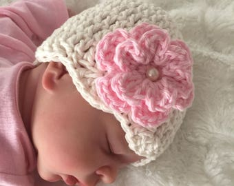 Crocheted Baby Beanie Hat Photo Prop