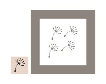 Mini Dandelion Seed Rubber Stamp