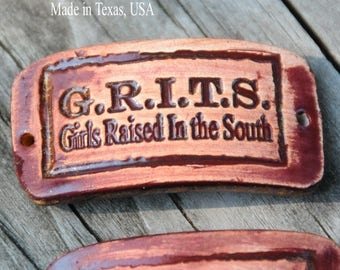 Grits Pottery Western Cuff Bead in Copper Brown