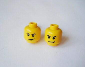 Lego heads - angry earrings