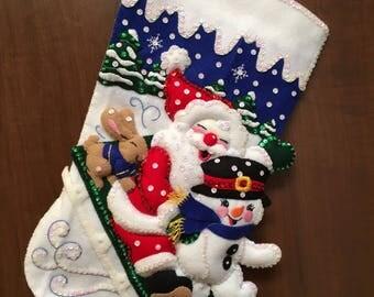 Janlynns Christmas Fun Felt Christmas Stocking