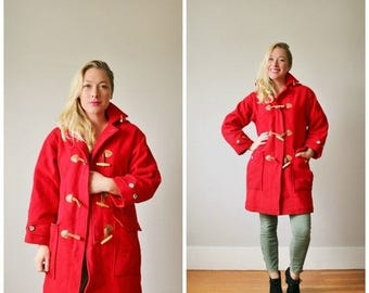 ON SALE 1990s  Lands' End Duffle Coat >>> Size Extra Small to Small