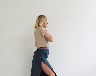 "ANNIVERSARY SALE 1980s Cricketeer Silk Skirt /// Size Medium /// 29"" Waist"