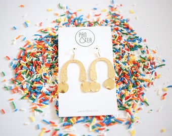 Sprinkled Arc Earrings