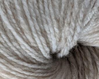 Soft Shetland Wool Handspun Yarn - Fawn - 208 yards Farm Raised
