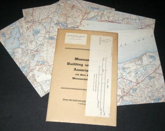 Vintage  (1943) Massachusetts City Map  - Harwich, MA - in 9 Sections - Great for Crafting
