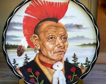 Vintage American Indian Metal Tray