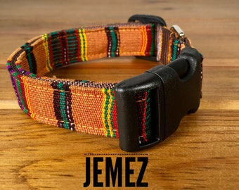 ZUNI Dog Collars Mayan Dog Collar You Pick Size Eco-Socially Responsible Mayan Weavers