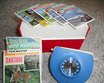 Vintage Lighted View Master with Reels includes Daktari