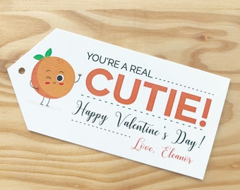 You're a Real Cutie Valentine | Kids Valentine Cards | instant Download | Cute Valentine's Day Tags