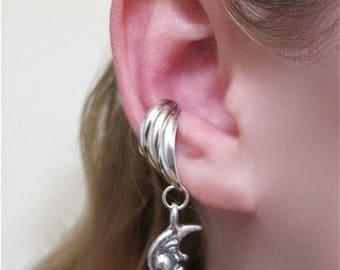Moon Ear Cuff Silver Moon Ear Cuff Chevron Moon Jewelry Celestial Jewelry Moon Earring Non-Pierced Earring Fashion Ear Cuff Minimalist