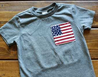 4th of July Shirt for Kids, Patriotic Shirt, 4th of July Outfit, Independence Day Shirt, Military Family, USA Pride, Ready to Ship