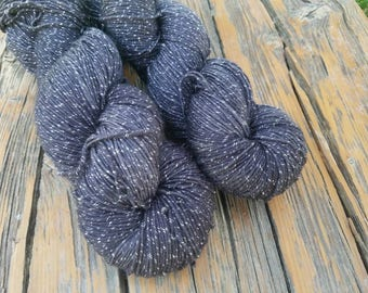 RESERVED FOR VERA - Charcoal Sparkle  - 450 yards - 92% Merino/8 Lurex
