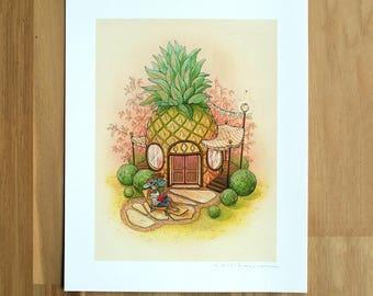 Pineapple House - Fine Art Print by Nicole Gustafsson