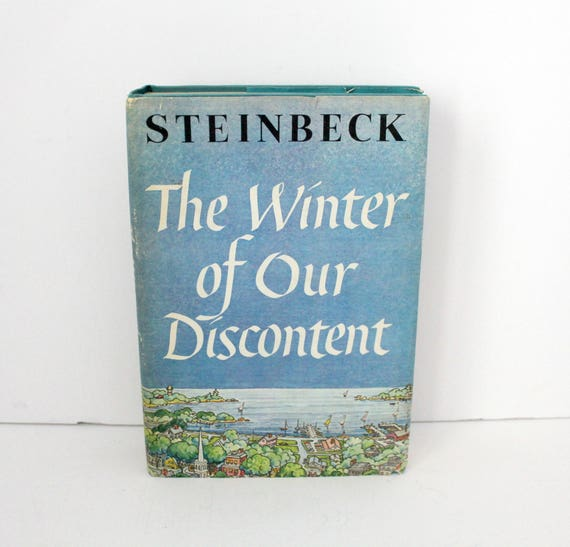 1961 1st Edition The Winter of Our Discontent Book by John Steinbeck with DJ