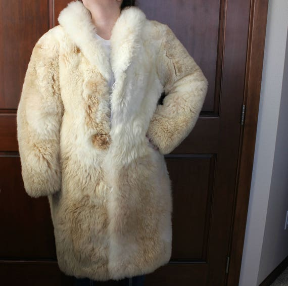 Vintage Alpaca Fur Coat, Peruvian Inca's Womens Long Fur