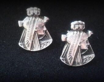 Nefertiti Jewelry Sterling Silver - Sterling Silver Nefertiti Earrings - Ancient Egypt Jewelry - Queen Nefertiti Africa Queen Earrings