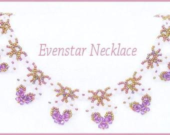 Bead Tutorial - Evenstar Necklace - Netting Stitch