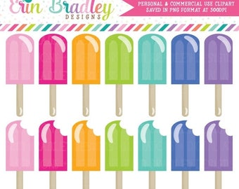 80% OFF SALE Summer Clipart Food Clip Art Graphics Ice Pops Personal & Commercial Use