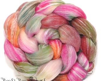 WOODLAND GNOME - Seawool Merino Seacell Wool Roving Hand Dyed Combed Top Spinning Felting Weaving