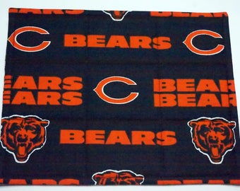 Two Chicago Bears Snack Mats or Mug Rugs for Dorm, Office or home Desk, Dining & End Table, For Coffee Mug, Candles and More